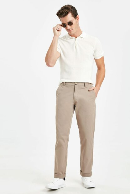 Men's Beige Mq2 Trousers 9S1103Z8