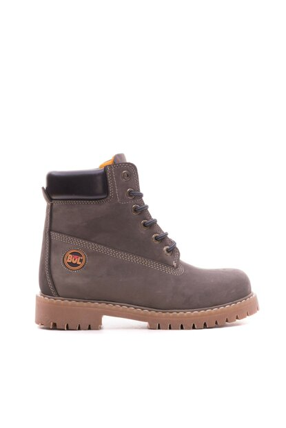 Genuine Leather Gray Nubuck Men Boots TR_BUL-200157