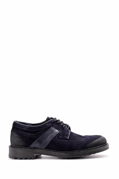 Genuine Leather Navy Blue Men's Shoes 18WFD351810