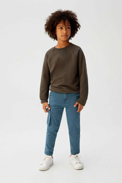 Blue Boy Trousers with Pockets 53005015