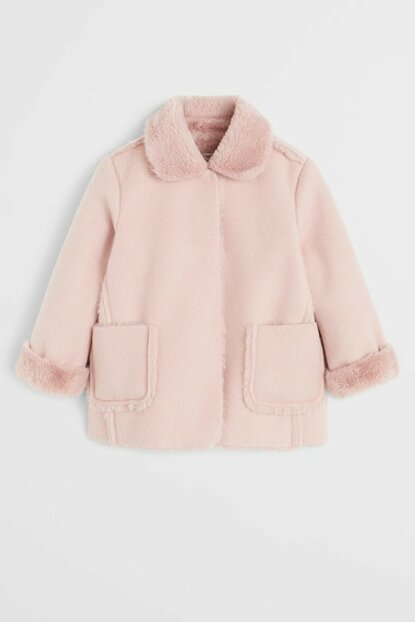 Pink Girl Kids Faux Fur Lined Jacket 67030069