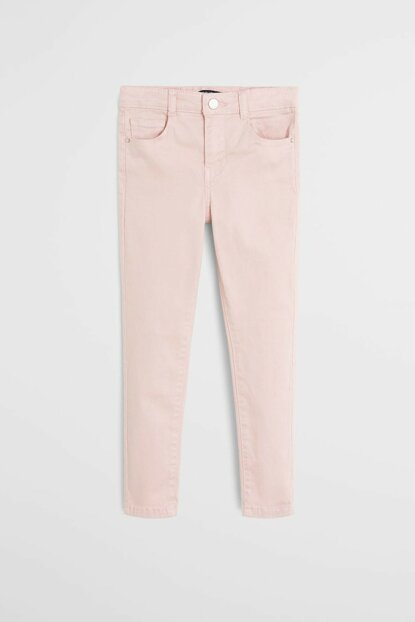 Pink Girls Skinny Soft Trousers 53083727