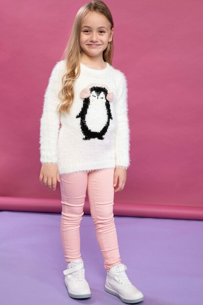 Pink Young Girl Gabardine Pants J9855A6.19SP.PN113