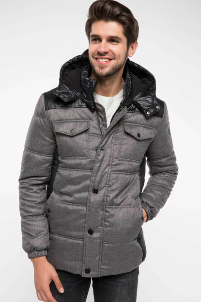Men's Inflatable Slim Fit Coats I8068AZ.18WN.BK27
