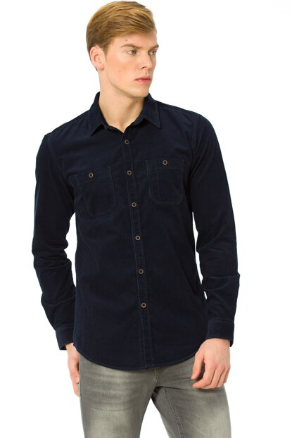 Men's Navy Blue Shirt 7K5347Z8