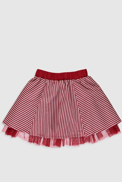 Girl's Red Printed Ltq Skirt 0S3822Z4
