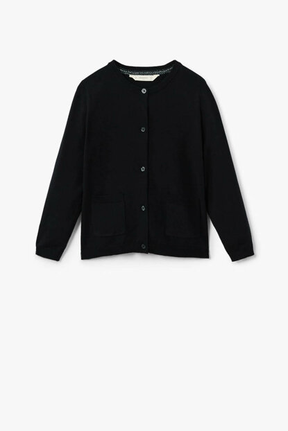 Girls Black Cardigan 33060547