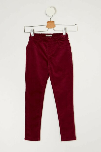 Maroon Girls' Slim Fit Trousers I9013A6.18AU.BR239