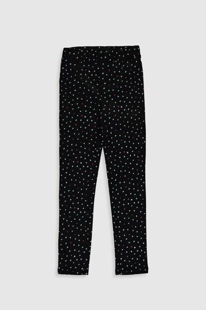 Girls' Black Printed Lqj Pants 0S1524Z4