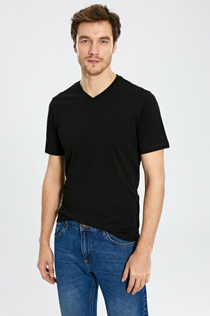 Men's New Black T-shirt 0S1781Z8