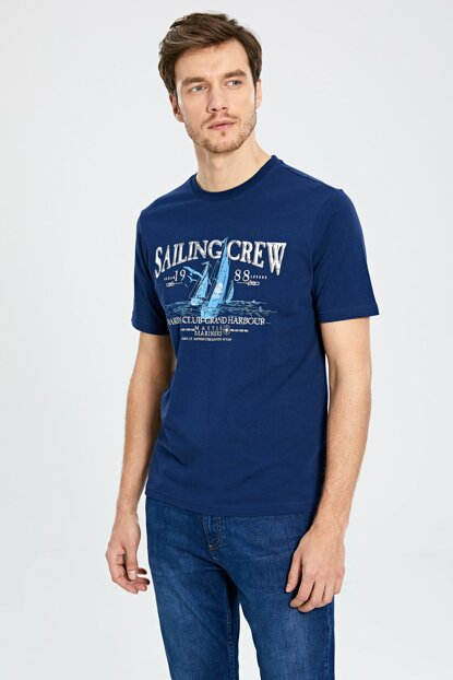 Men's Navy Blue T-Shirt 0S1803Z8