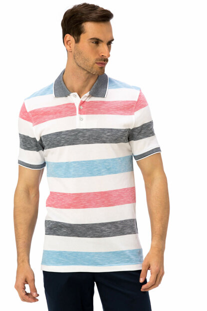 Men's Pink Striped T-Shirt 8S3863Z8