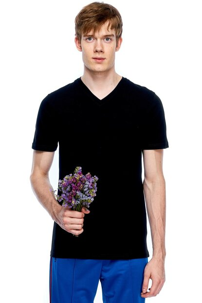 Men's V Neck Basic Tshirt 311933U53J4132