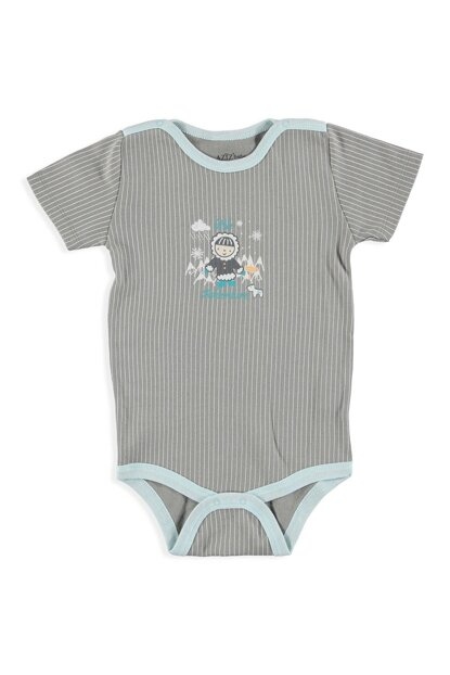 Baby Boy Adventure Collar Snaps Short Sleeve Body 19KAZZEBDY004