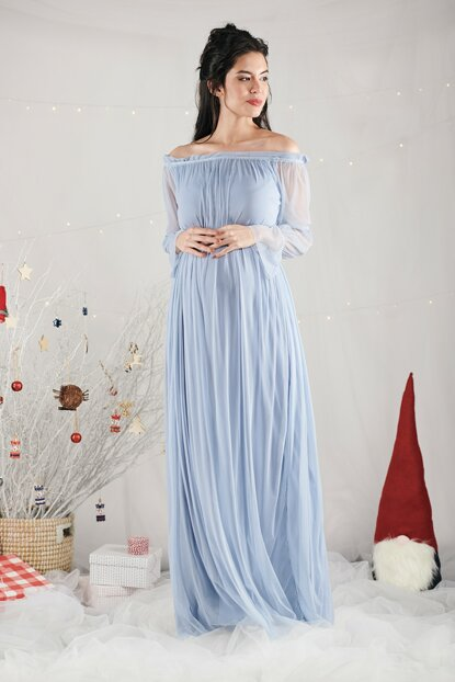 Christina Dress - Blue M2342