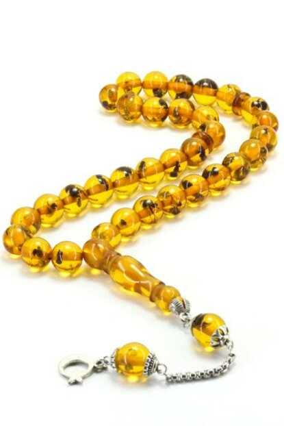 Ant Fossil Powder Amber Rosary 1137ST