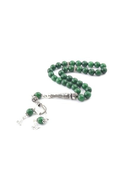 Facet Cut Green Agate Rosary DT-84