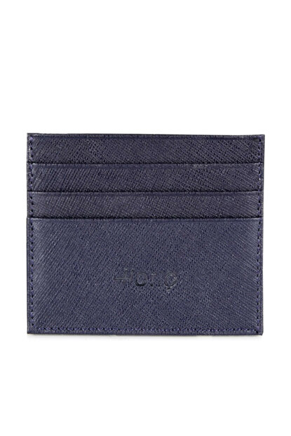 Genuine Leather Navy Blue Men Wallet 06CUH131260A680