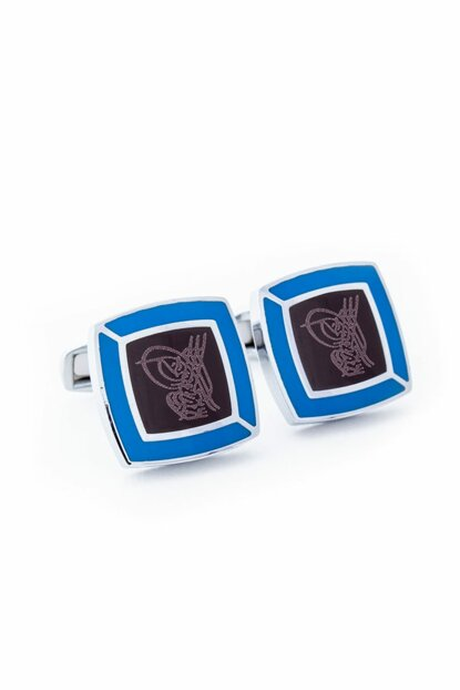 Men's Blue Model Cufflinks - KD16006-80294