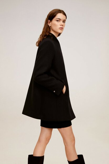 Women's Navy Blue Coat 57047661