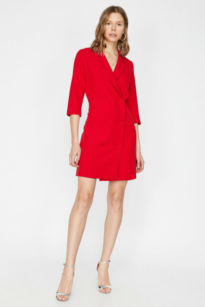 Women's Red Dress 9YAK88410PW