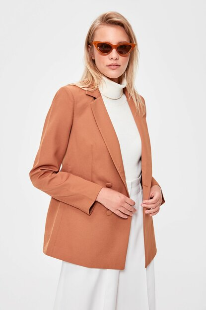 Camel Pocket Detailed Blazer TWOAW20CE0051