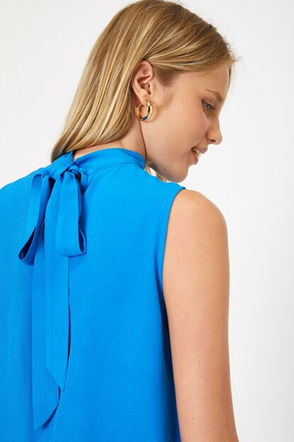Women's Blue Blouse 9YAK68987PW