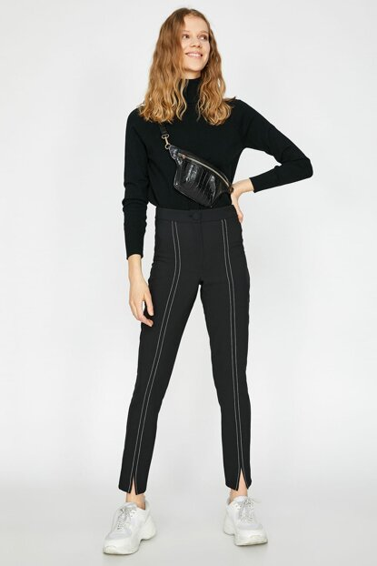 Women's Black Pants 9YAF40345FW