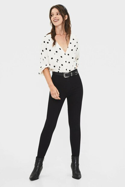 Women's Black High Waist Jegging 05057019