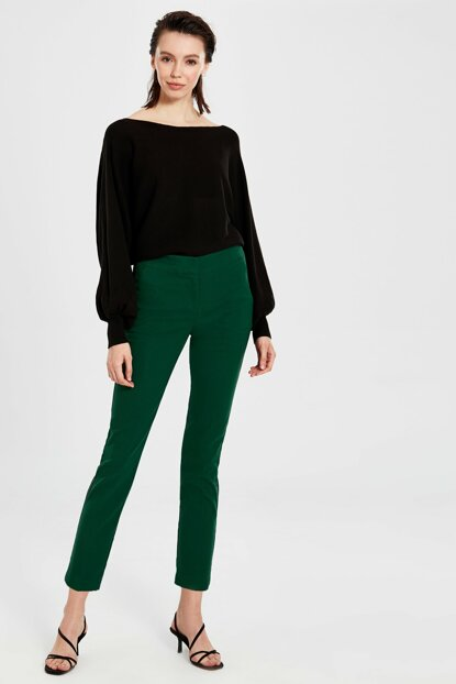 Women's Mid Green Trousers 9WP007Z8