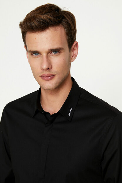 Men's Black Shirt 9KAM69052BW