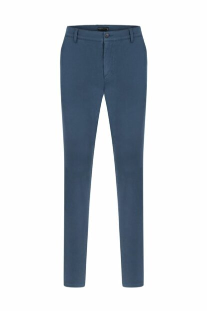Men's Dark Indigo Slim Chinino Trousers 1203723 329726