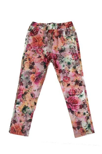 Green Flower Girl Children Trousers K-42KL204110