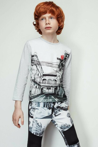 Boy Gray T-shirt 19FW2NB3543