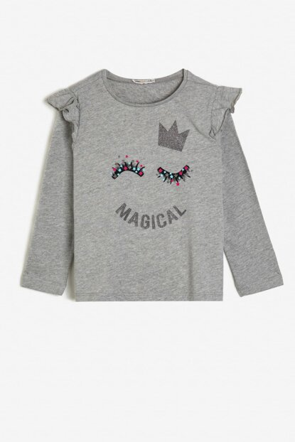 Gray Child TSHIRT LS 0KKG17853AK
