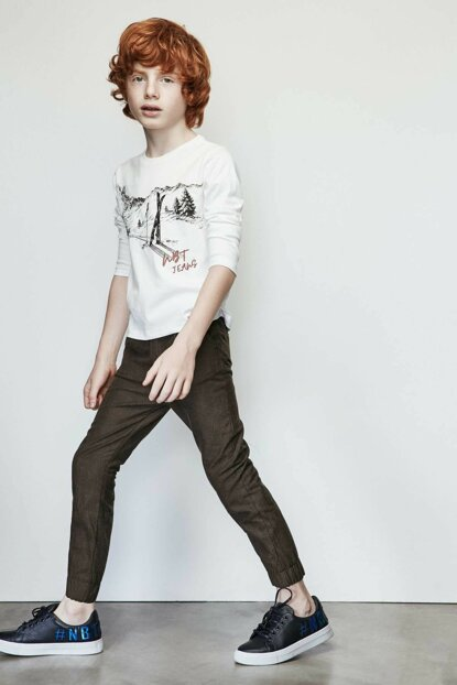 Boy's Ecru T-shirt 19FW1NB3532