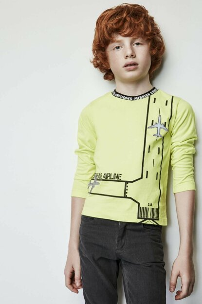 Boy Green T-shirt 19FW1NB3540