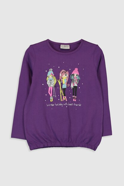 Girls' PURPLE HSM T-shirt 9WP833Z4