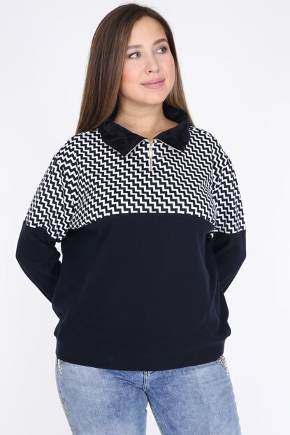 Women's Navy Blue Blouse 2304