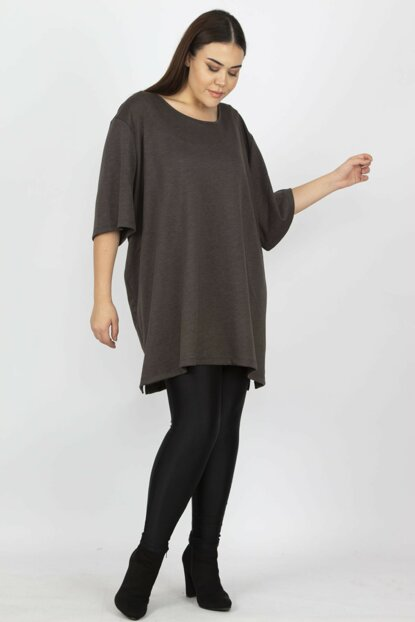 Women's Coffee Capri Sleeve Tunic 65N14108