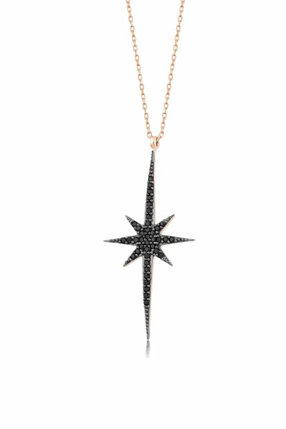 Women's Rose 925 Sterling Silver Pole Star Necklace MA_KL_1012