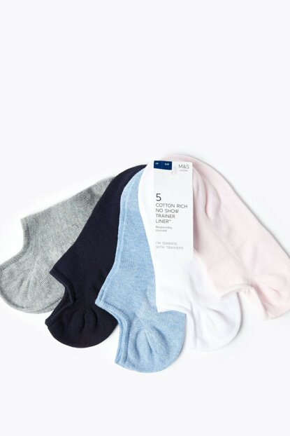 Women's Denim Mix 5s Socks Set T60007695B