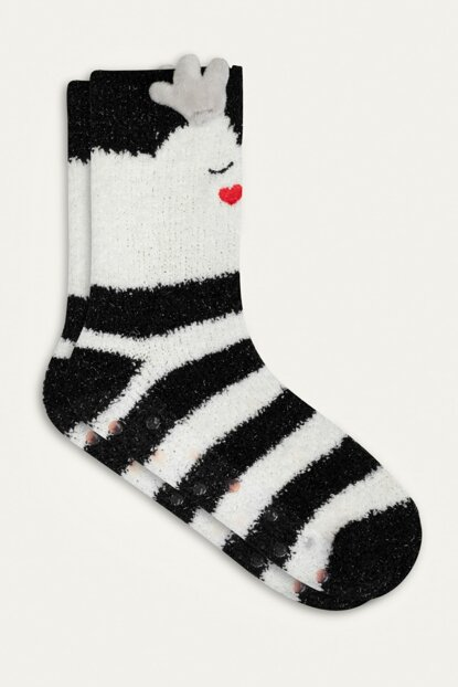 Women Multi Color Deer Christmas Themed Socks 353800