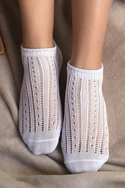 Souffle Booties Socks - White 1KCORP0141-8682116111553