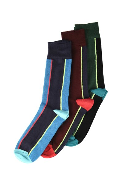 Multicolor Men's Striped Socks Socks TMNAW20CO0045