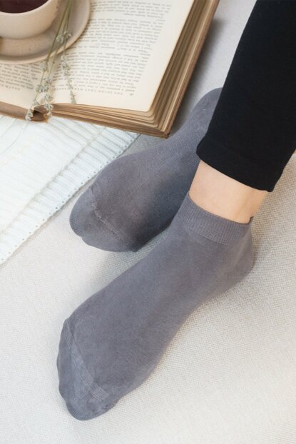 Leaf Booties Socks - Anthracite 1KCORP0108-8680044497763