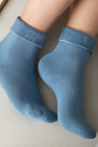 Demeka Women's Socks Stockings - Blue 1KCORP0143-8682116126908