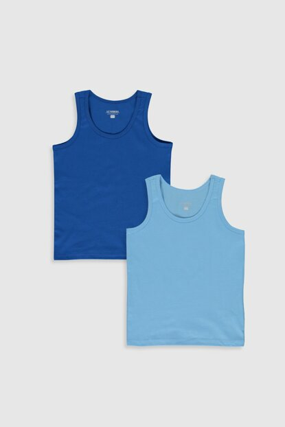 Boys' Medium Blue Juf Tank Top 2S5355Z4