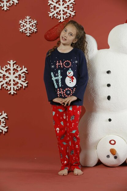 Girls Patterned Interlock Pajama Set 19255073