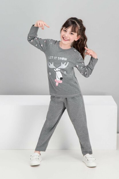 Let it Snow Dark Grimelanj Girls' Pajamas Set RP1556-C